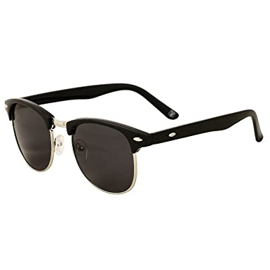 3c1c892fb SONI TMX club master round black lens with golden strip stylish light  weight premium quality sunglasses: Amazon.in: Clothing & Accessories