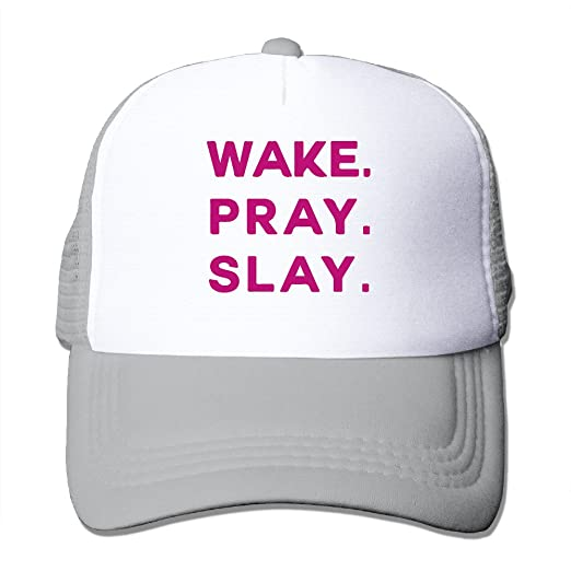 Amazon.com  Adult WAKE PRAY SLAY Trucker Hats 27013012d92