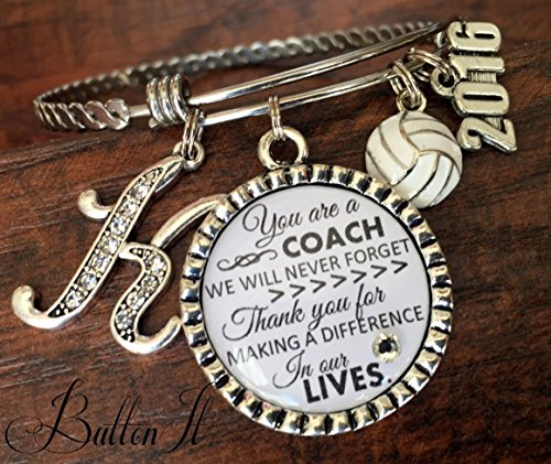 Coach gifts, volleyball coach, soccer coach, basketball coach, Cheer Coach Jewelry, coach quote, inspirational jewelry, motivational, softball coach, charm bracelet, 2018 charm, thank you gift