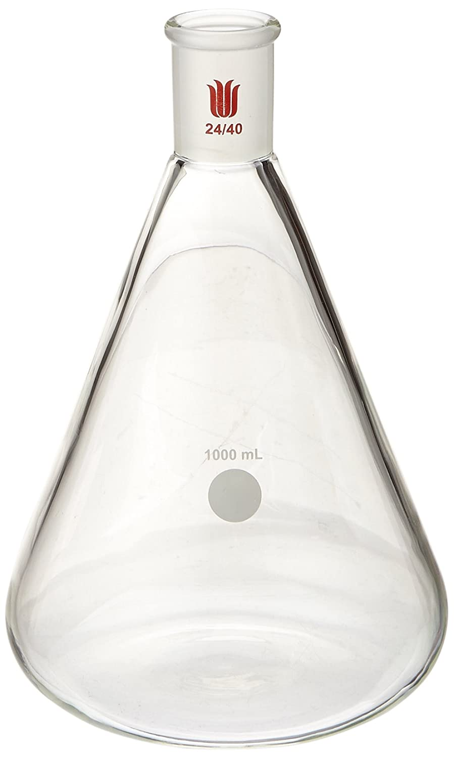 Kemtech F664000 Synthware Erlenmeyer Flask, 1000 mL, 24/40 Outer Joint