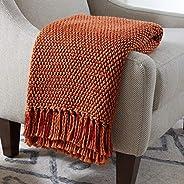 """Amazon Brand – Stone & Beam Modern Woven Farmhouse Throw Blanket, Soft and Cozy, 50"""" x 60"""","""
