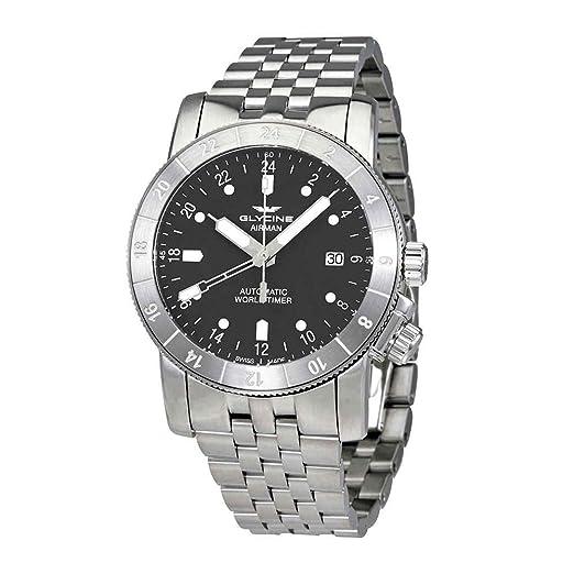 Reloj Automático Glycine Airman 42, GL 293, GMT, Gris, GL0065: Amazon.es: Relojes