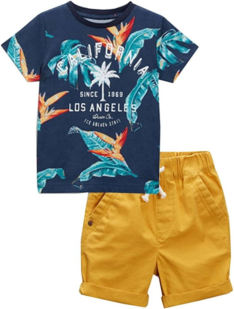 Frogwill Toddler Boys The Little Monster Truck Tee and Dinosuar...
