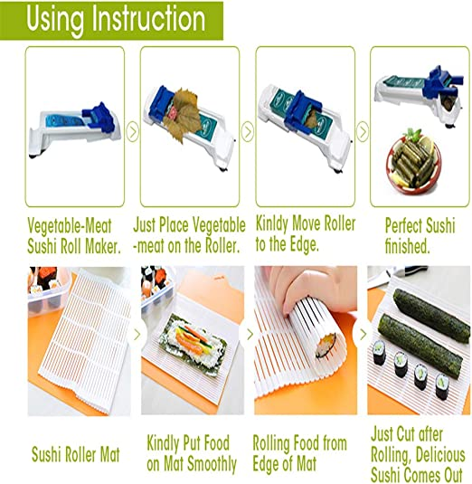 Myfreed Vegetable Meat Rolling Tool Stuffed Leaves Grape Cabbage Sushi Rolling Machine Meat and Vegetable Rolling Tool Sushi Maker 1 Pack Roller