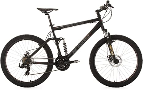 KS Cycling Insomnia - Bicicleta de montaña de doble suspensión, color negro, talla L (173-182 cm), ruedas 26