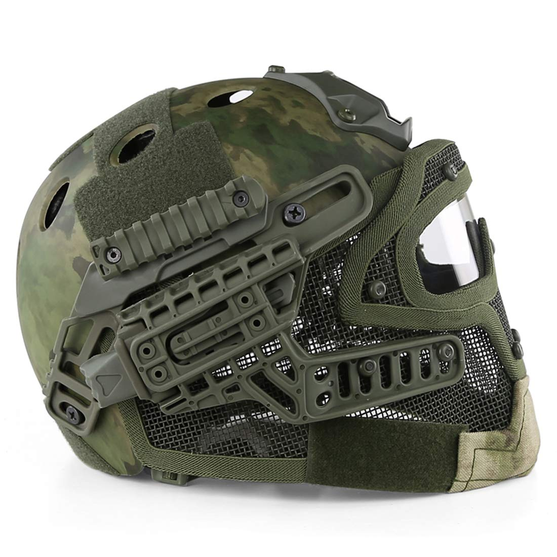 Tosbess Tactical Veloce Casco Military Tactical Helmet per allaperto CS Airsoft Paintball
