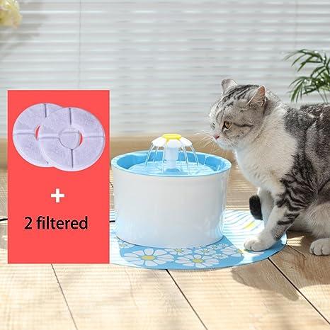 EFGUFHC Flor fuente, Texto original en Flor Fuente de agua para gatos y perros pequeños