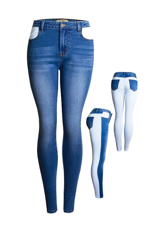 Women Stretch Destroyed Ripped Distressed Skinny Jeans Original Denim Pants