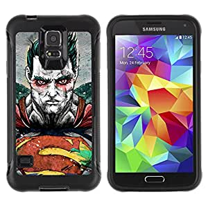 ZeTech Rugged Armor Protection Case Cover - Detailed Superhero Illustration - Samsung Galaxy S5