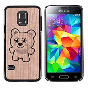 - Teddy Bear Polar Bear Cartoon Cute - - Funda Delgada Cubierta Case Cover de Madera FOR Samsung Galaxy S5 Mini G870a BullDog Case