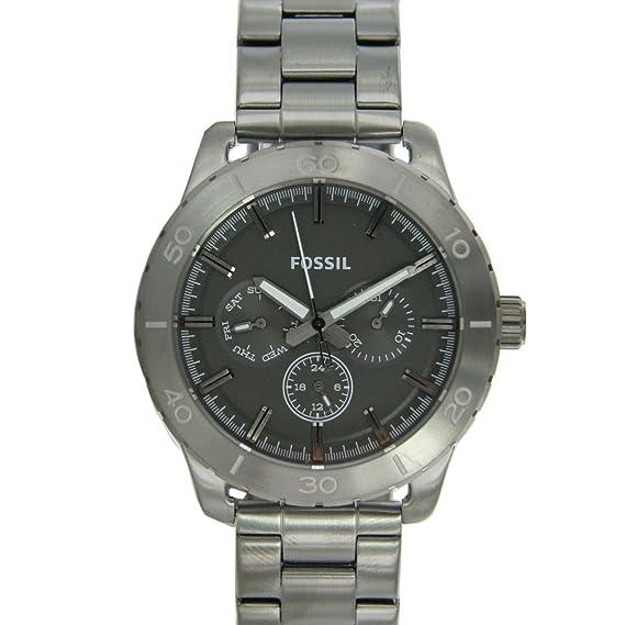 Fossil BQ1057 - Reloj para hombres, correa de acero inoxidable color negro