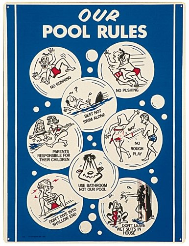 Poolmaster 41336 Adult Animation Sign for Residential Pools, Appliances for Home