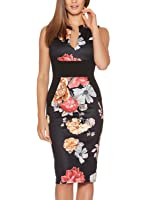 Fantaist Women's Sleeveless Deep V Neck Floral Print Cocktail Party Pencil Dress