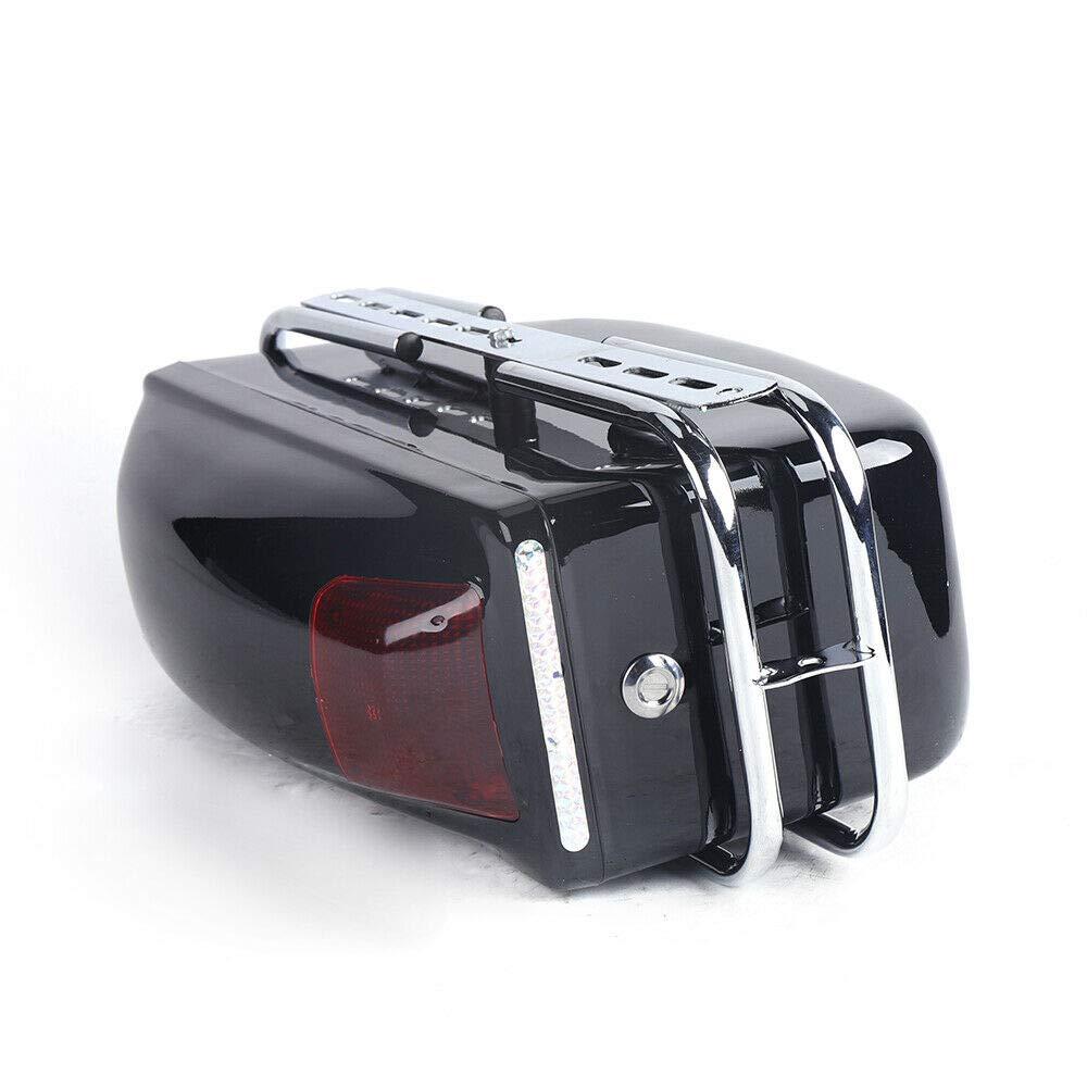 15.5 Motorrad Seitenkoffer 2 St/ück,Aus ABS-Kunststoff,Hartschalenkoffer,42 26.5cm Rot