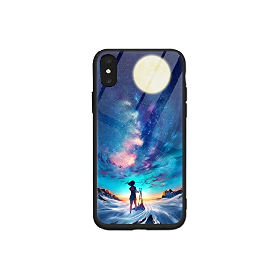 Amazon.com: Tempered Glass Case for iPhone Xs Max Xr Xs ...
