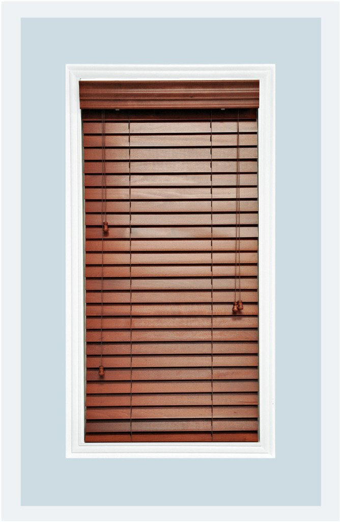 Amazon Com Custom Made Premium Real Wood Horizontal Window Blinds 2 Slats Rosewood Inside Mount Home Kitchen