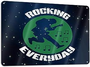 CHANGQUDD Rocking Everyday Metal Courtyard Logo, Home, Courtyard, Hotel Decor, 11.8 X 7.9 Inches Rust-Free Aluminum