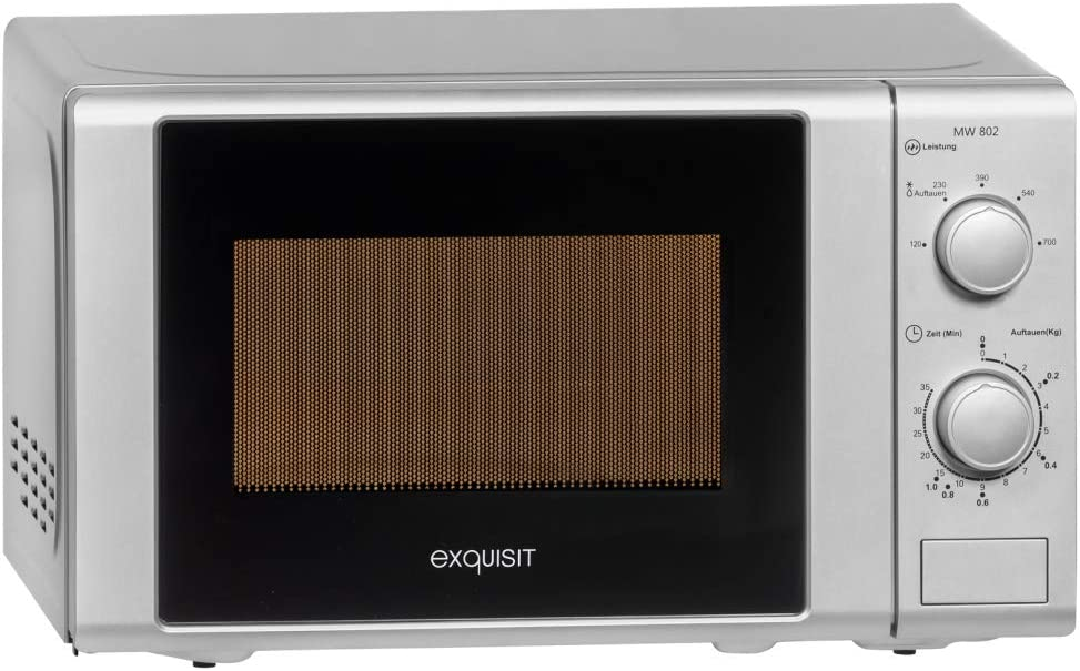 Silber 700 Watt//Grill 1000 Watt 20L Exquisit Mikrowelle MW 802 G Silber