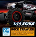 Large Rock Crawler RC Car (12 Inches Long) - 4x4 Remote Control Car For Kids (Red) - Everything Included (Even Batteries) - 1/14 Rock Master Rock Crawler with 2.4Ghz Controller By ThinkGizmos by ThinkGizmos