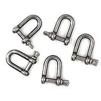 M4 Grilletes de acero inoxidable 304 D ring