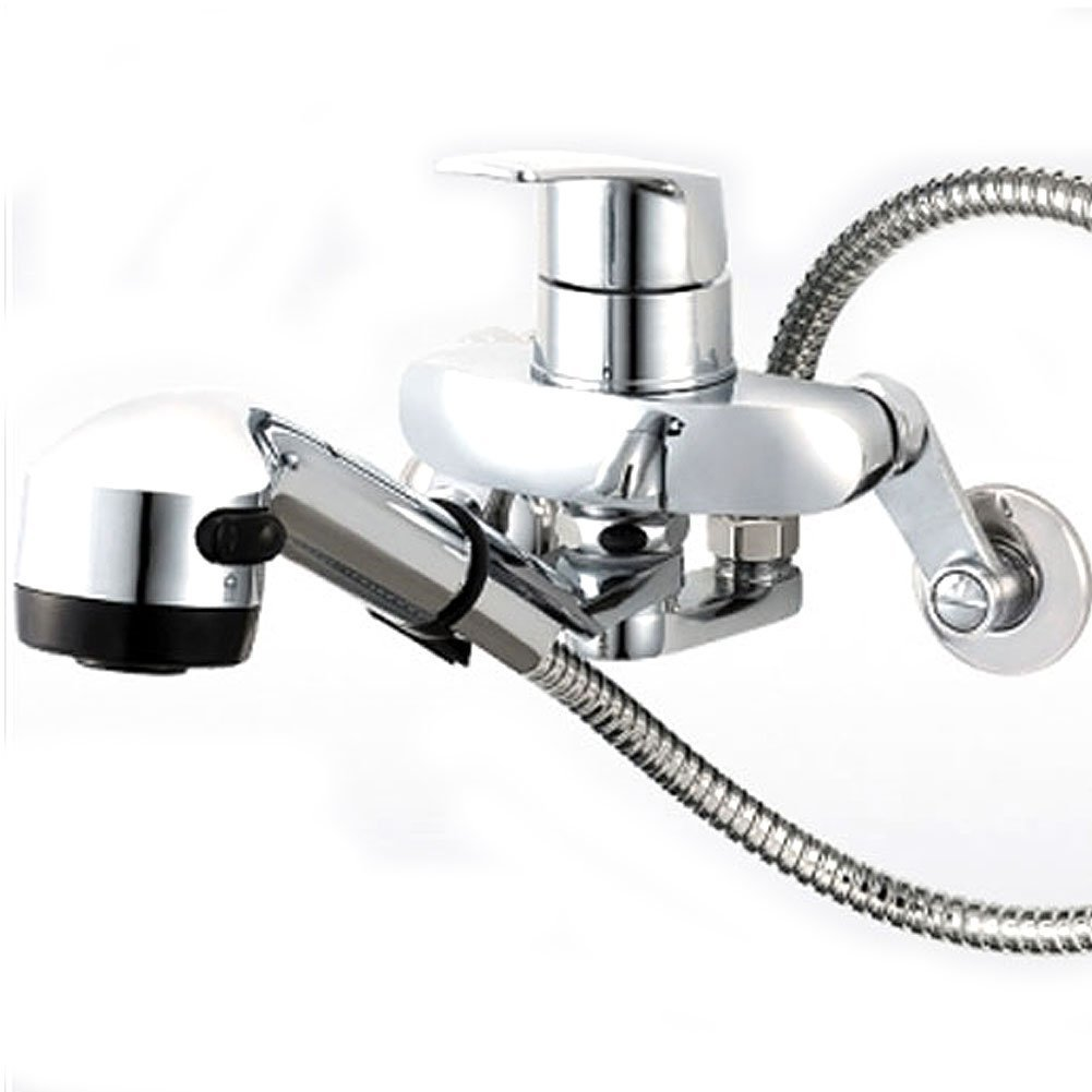 8inch Kitchen Faucet Taps Chrome Pull Out Wall Mount Sink Faucet 2 ...