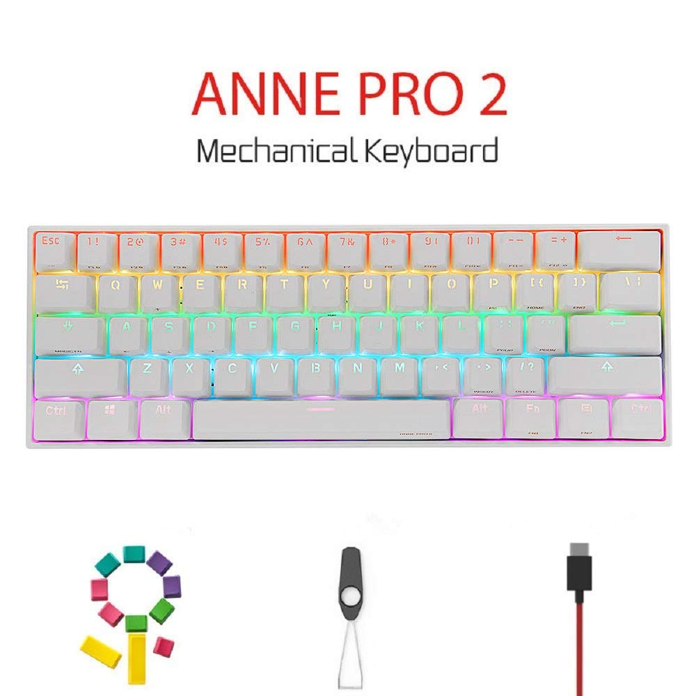 Teclado Mecanico 60% Kailh Red Switches Anne Pro 2 5.0  -XTG
