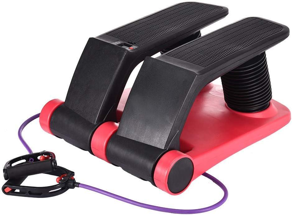 DD-upstep Air Stepper Climber Fitness Machine Black, from US Resistant Cord Air Step Aerobics Machine Stair Stepper Exercise Equipment Exercise Slimming Machine