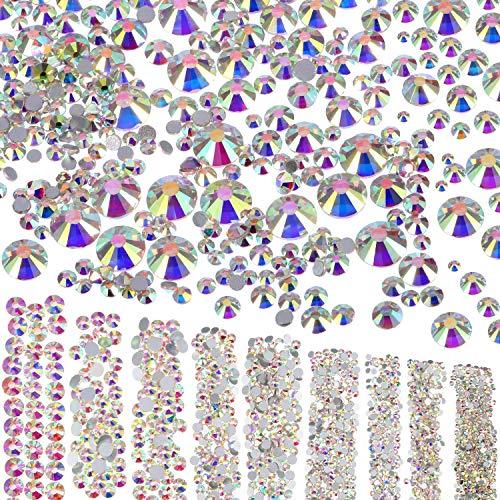 Le Visage 1 Pièces 9 Embellissements Ab 6 Ongles Dos Strass Crystal Pour 6 Artisanat Mm Art 5 Plat Gems Diy Tailles Mm 3500 Corps FqTxZT