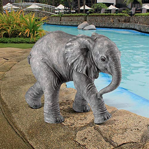 - Design Toscano Eloise The Baby Calf Elephant Statue, Full Color