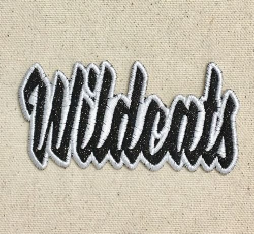Wildcats Glitter (Logo patch embroidered)Wildcats - Black Glitter/White - Team Name - Iron On Embroidered/Ap+ E-book with pictures)