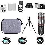 Homyl Kit Lente Da Câmera do telefone, 28X Telefoto Lens + Lente + 0.6X 20X Lente Grande Angular + Lente Olho de Peixe de 198