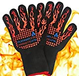 Platinum UMD 932F Oven and BBQ Mitts Cut Heat Resistant Gloves,Chef Supplies Accessories,100% Cotton Lining, Stripes for Ultimate Grip, Perfect for Kitchen, Baking, Grilling, Barbecue EN407 Certified