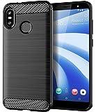 HTC U12 Life Case, Sucnakp TPU Shock Absorption Technology Raised Bezels Protective Case Cover for HTC U12 Life (Black)
