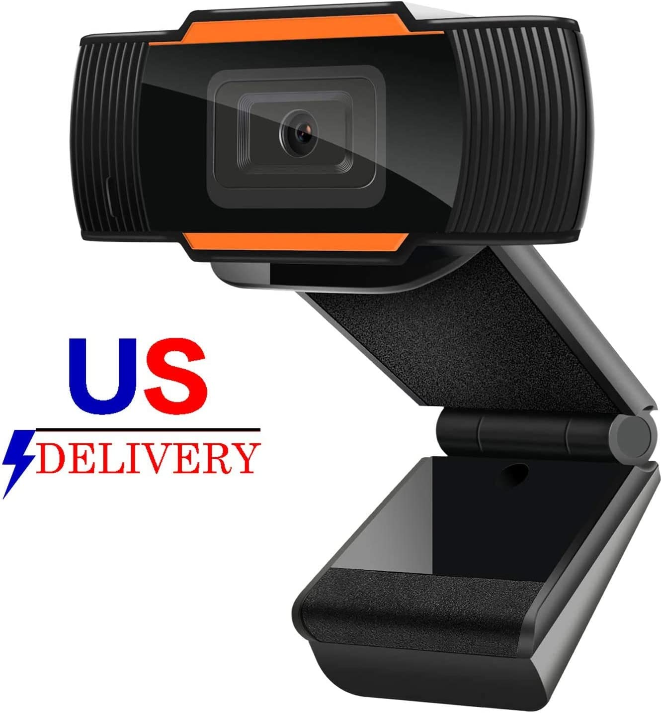 Webcam Auto Focus 1080P Full HD Widescreen Web Camera with Microphone USB Computer Camera for PC Laptop Desktop Mac Video Calling Recording Streaming Video Conference Online Teaching Business Gaming