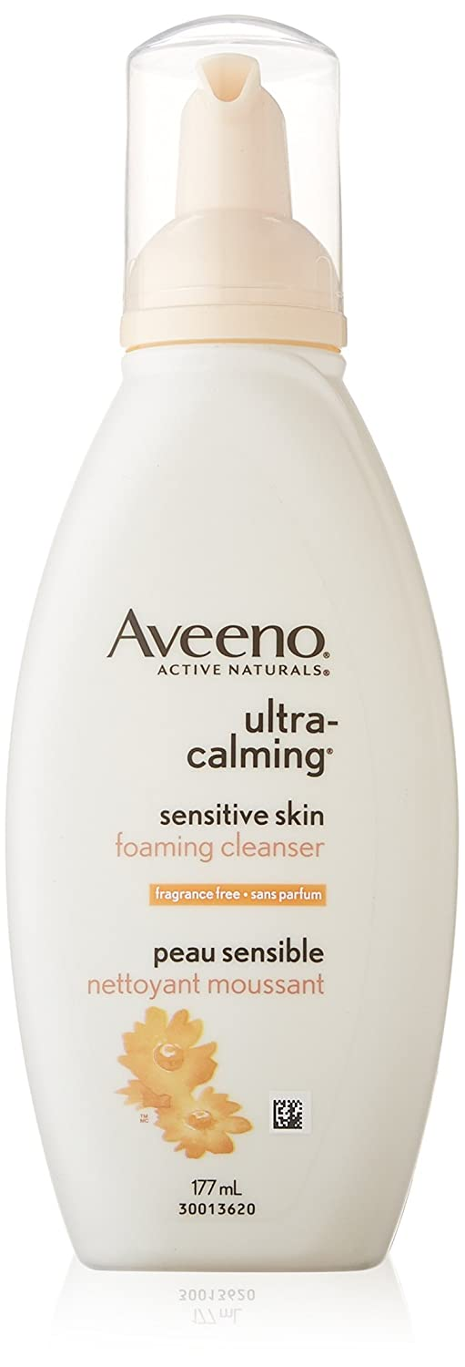 Aveeno Ultra-Calming Face Wash, Foaming Facial Cleanser, 177 mL