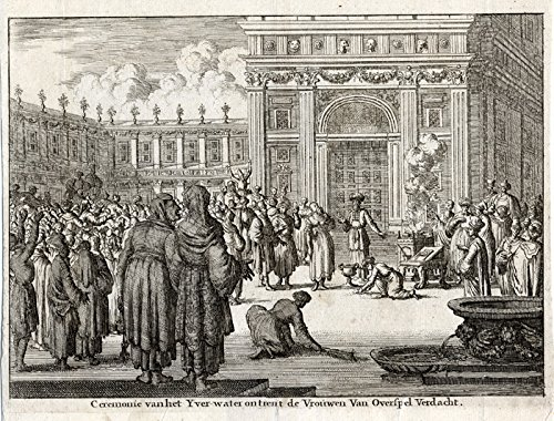 Antique Print-CEREMONY-BITTER WATER-RITUAL SOTAH-ADULTERY-Cunaeus-1682