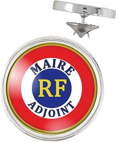 Porte-Cl/és Rond Plastique Cocarde RF Maire Adjoint Bleu Blanc Rouge