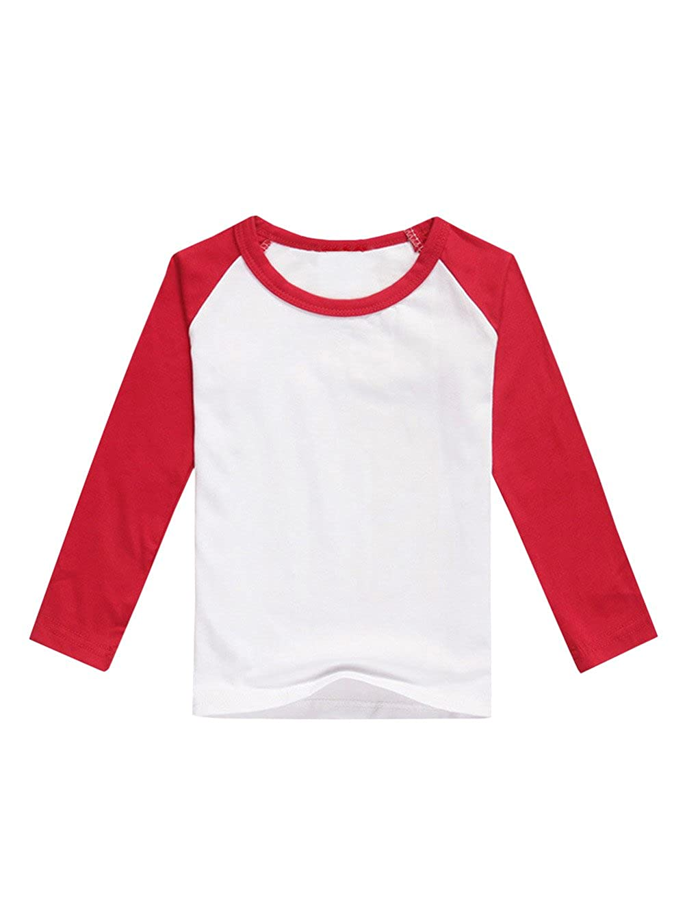 f405caa5a Classic Long Sleeve Raglan Baseball Tee suits for any sports and school  uniform. Nice gift for your baby in birthday,Christmas,Children\'s ...