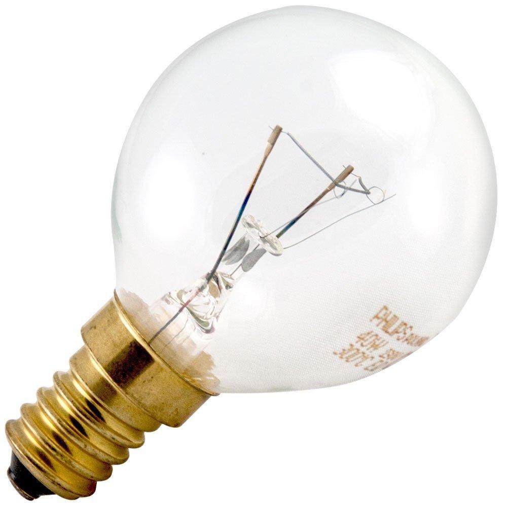 Philips Round Bulb Ball 40 W E14, Oven P 45 x 78 Oven Bulb 300 °C.
