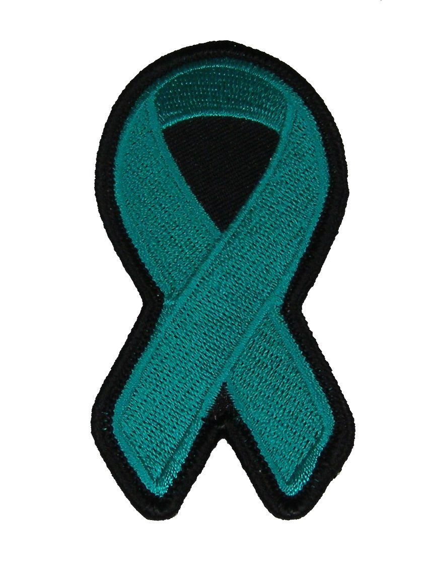 Amazon teal ribbon for ovarian cancer awareness patch teal amazon teal ribbon for ovarian cancer awareness patch teal veteran owned business arts crafts sewing biocorpaavc