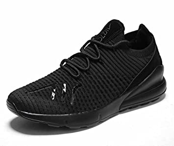 Men Mesh Athletic Shoes Fashion Breathable Knitted Casual