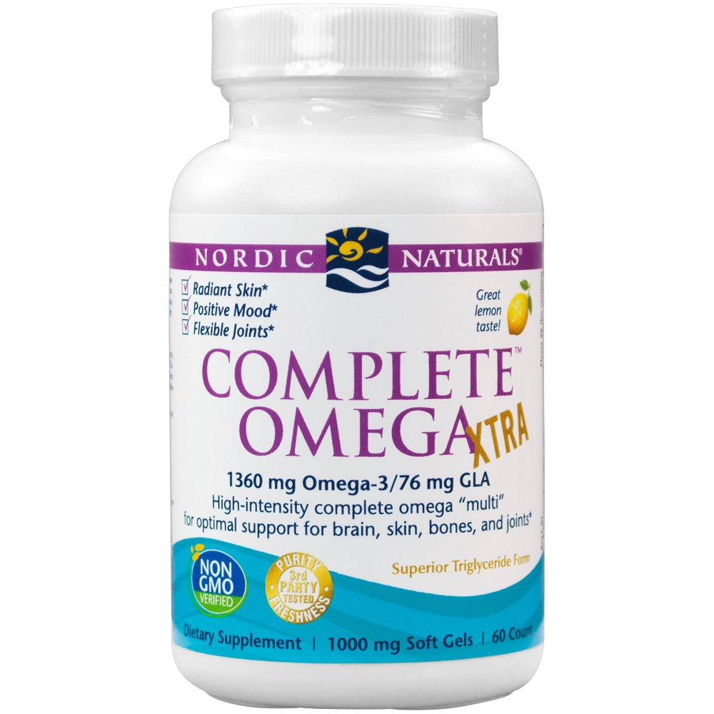 Nordic Naturals - Complete Omega Xtra, Optimal Support for Brain, Skin, Bones, and Joints, 60 Soft Gels (FFP)