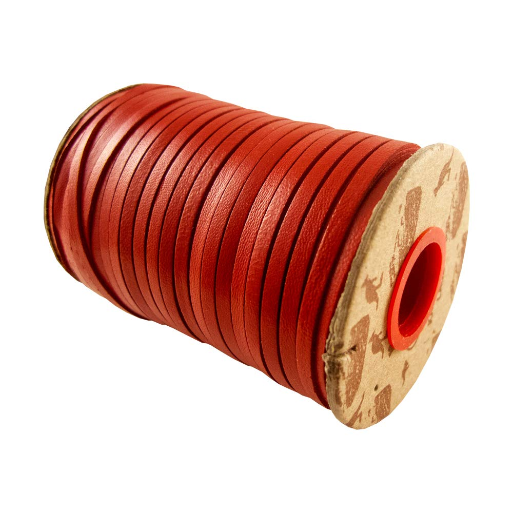 Springfield Leather Company Rainbow Kangaroo Lace (Red, 1/8'' 50 YD.)