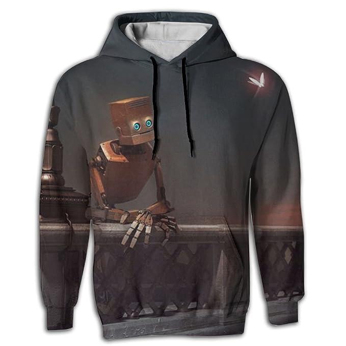b38d8a58a8 Cjhxqt Lonly Robot Cool Mens Novelty Hoodies Sweat Shirt Custom Sweatshirts  Graphic Pocket Pullover