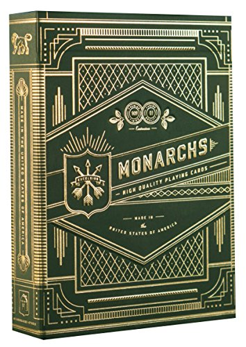 theory11 Monarch Playing Cards (Green) (Playing Cards Vintage)
