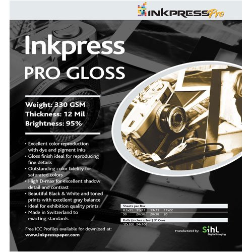Inkpress Pro Gloss, Professional Single Sided Inkjet Paper 17