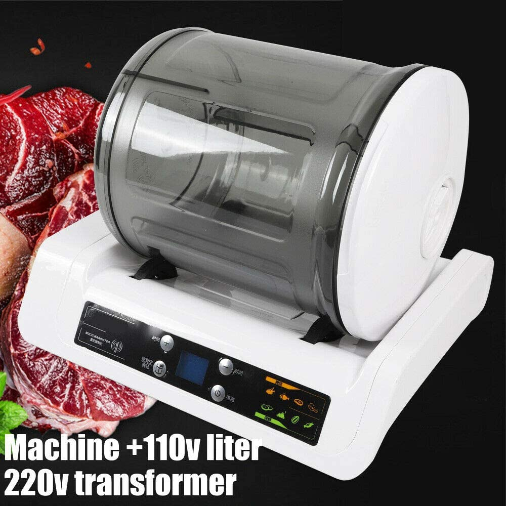 Electric Vacuum Food Marinator,7L Mini Tumbling Maker Pickled Machine Tumbler Vacuum Food Mixer Pickling Machine for Vegetables,Meat,Spicy Cabbage