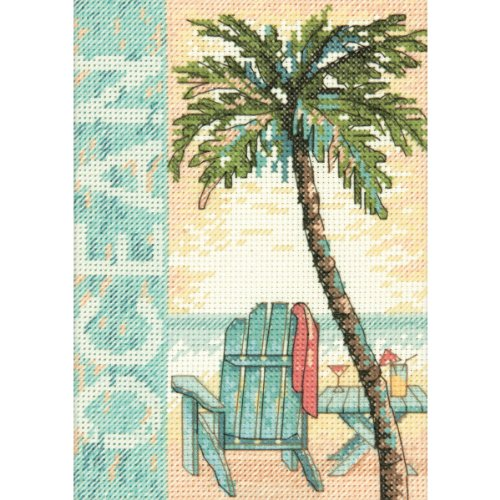 Ocean Mini Counted Cross Stitch Kit-5x7 14 Count
