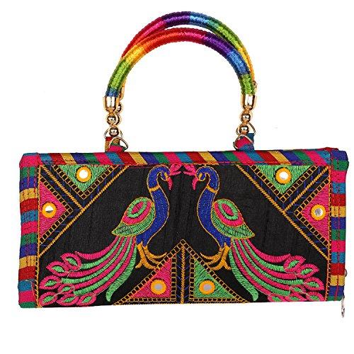 - Craft Trade Embroidered Clutch Purse Wallet Handmade Rajasthani Designer Handbag For Women/Girls