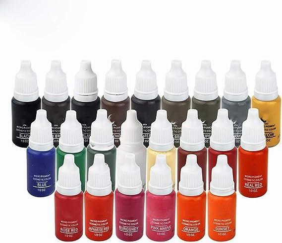 23 colores tatuaje tinta pigmento para maquillaje permanente ...